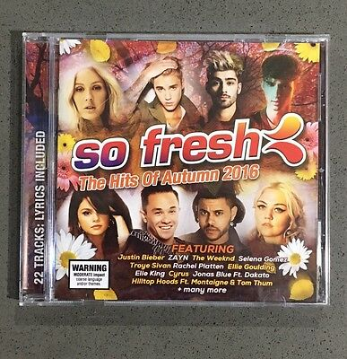 So Fresh - The Hits Of Autumn 2016 CD (Brand New)