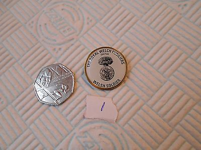 The Royal Welch Fusiliers 23rd Foot Welsh Soldier badge with a pin fitment