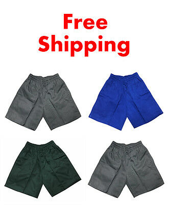 New Kids Boys Girls Teenage Unisex Sports Wear School Uniform Shorts Size 5-16
