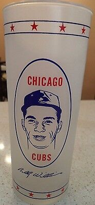 Vintage 1960's Billy Williams Chicago Cubs Glass Never Used