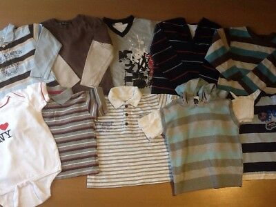 Baby Boy 18-24 Months 1.5-2 Top Bundle Next M&S I ❤️ Ny Summer Polo George