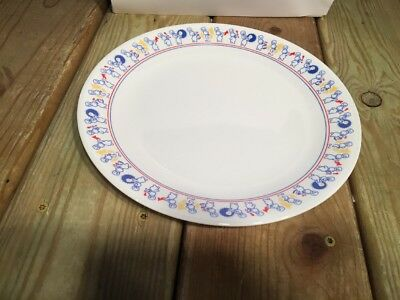 """Vintage 1991 Corelle PILLSBURY DOUGHBOY 10.25"""" Dinner Plate, with Marching Band"""