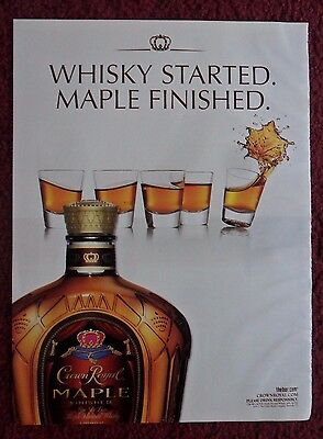 2012 Print Ad Crown Royal Whiskey ~ Whiskey Started Maple Finished