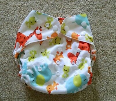Happy Flute One Size Diaper Cover Animal print Double Gusset New