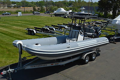 2004 Nautica 24 Rib Inflatable Catamaran, Twin Merc 115Hp Outboards, W/ Trailer