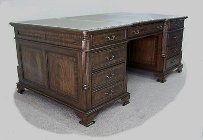 Large Flame Mahogany Executive Desk  **wow**