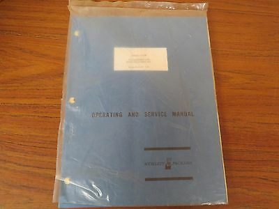 Hewlett Packard Model 3555B Transmission/Noise Measuring Set Operating Manual