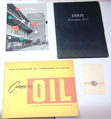 VINTAGE LOT ORIGINAL 1959 Sohio Career packet Brochure Manuals Paperwork Folder