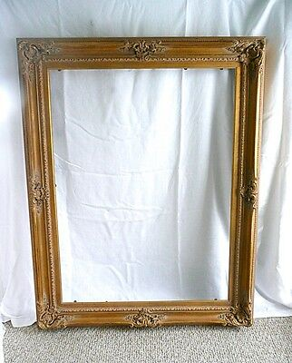"Museum/Gallery Quality 40"" x 30"" (Picture Area) Gold Gilt Painting Frame."