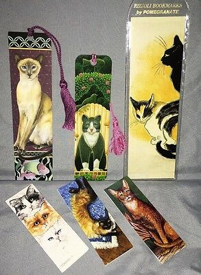 Cat Lovers ~ Lot of 6 Vintage Bookmarks