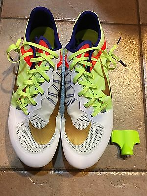 NEW RARE Nike Zoom Ja Fly 2 Track & Field Penn Relays spikes shoes Mens size 13
