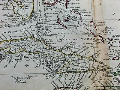 West Indies Caribbean Cuba Florida Puerto Rico 1811 Russell antique large map