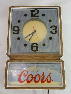 Vintage Coors Lighted Clock