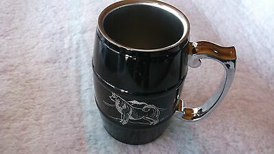 AKITA- Hand engraved Stainless Barrel Mug by Ingrid Jonsson