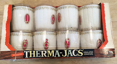 Therma Jacs Vintage Retro Drinking Glass Coozies Coasters Mid Century Barware
