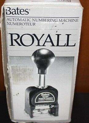 Bates Royall Automatic Numbering Machine RNM5A-7