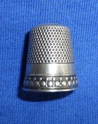 Antique Waite Thresher Co. 1890 Sterling Silver Thimble Size 10