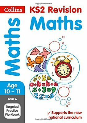 Year 6 Maths SATs Targeted Practice Workbook t by Collins KS2 Paperback Book New