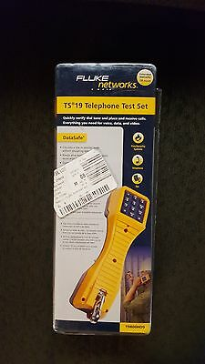 Fluke networks TS19 telephone test set 19800HD9  with angled bed-of-nails clips