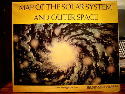 1960 ' Map of the Solar System and Outer Space'  in VG Cond. by Book Enterprises