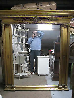 Big Vintage Style Beveled Edged Mantletop Mirror.