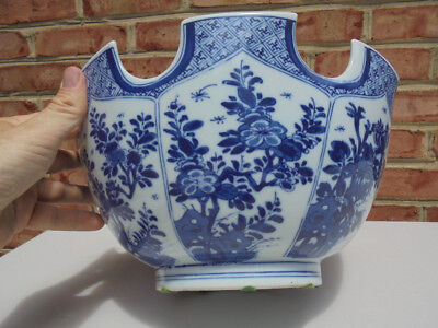 Mottahedeh Porcelain Blue & White Monteith Bowl Chinese Export MMA 12 3/8""