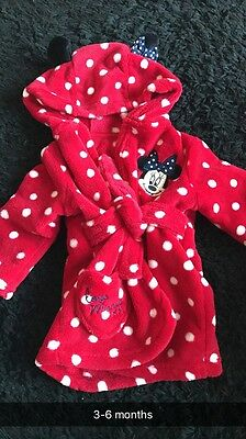 3-6 Months Minnie Mouse Dressing Gown