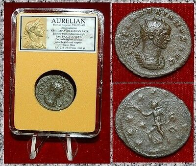Ancient Roman Empire Coin Of AURELIAN  Pax Walking With Olive Branch And Sceptre