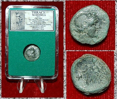 Ancient GREEK Coin THRACE MARONEIA Dionysos Holding Grapes Reverse