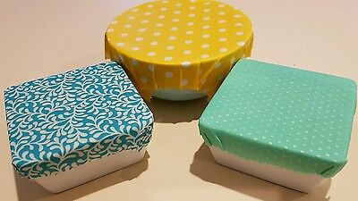 5 x Medium Reusable Beeswax Food Wrap. Environmentally Friendly