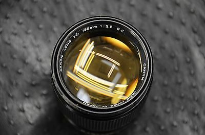 Canon Bell Howell 135Mm F2.5 Fd Mount Manual Focus Telephoto Lens Great Free S/h