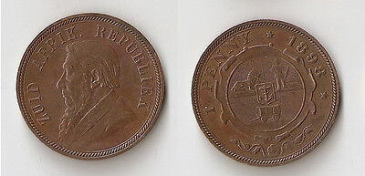 South Africa 1 penny 1898 High grade!