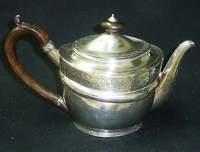 Antique George III Solid Silver Teapot - Hallmarked London 1803 - 483g