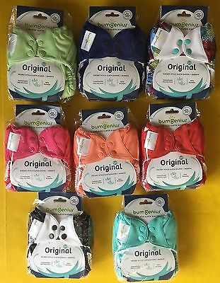 HOT* 8 BumGenius 5.0 Stay Dry Cloth Diapers + One Size Inserts - NEW