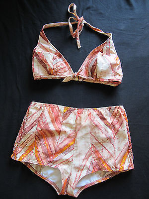 true VTG 60s CATALINA high waist BIKINI tiki pin up 14 m mOd euc cotton 8 10 s ?