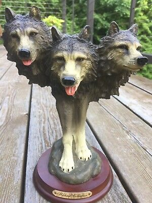 Wolf Head Statue Wolves Michael Collection