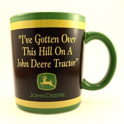 John Deere Tractor Emblem Coffee Mug Over The Hill Enesco