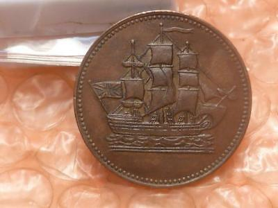 Prince Edward Island 1835 Ships, Colonies, And Commerce Token Higher Grade #AA