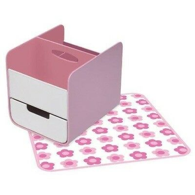 B.Box Baby Essential Nappy Caddy & Change Mat Diaper Nursery Storage Bbox Pink