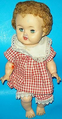 "1950s IDEAL BETSY WETSY VW-2 DOLL ALL VINYL ROOTED HAIR 13 1/2"" TALL"