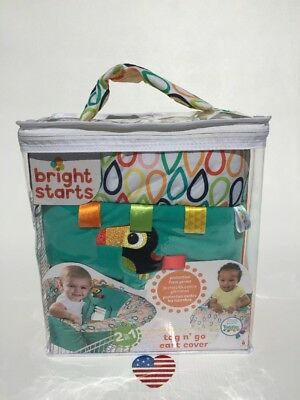 New Bright Starts Tag N Go Cart Cozy Cover Tiny Toucan High Chair Taggies 2 in 1