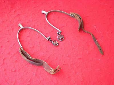 Nice Pair of Cavalry/Military Spur Set With (broken) Straps-Marked-ELITE-ENGLAND
