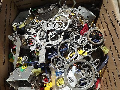 HUGE Lot Electrical Conduit Connectors Fittings wire caps Misc hardware BOX LOOK