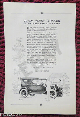 Original DODGE Magazine Ad - 1923 -  Automobile - Car - Brakes