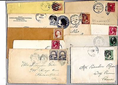 Us Postal History  Early  Cover Collection Builder Lot Of 10 Entires   (N2057)
