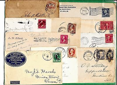 Us Postal History  Early  Cover Collection Builder Lot Of 10 Entires   (N2056)