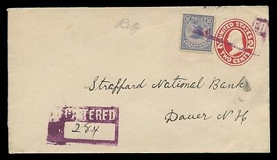 POSTAL HISTORY - Sc #F1 ON REGISTERED COVER TO DOVER, NH