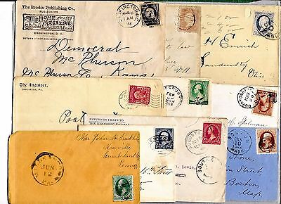 Us Postal History  Early  Cover Collection Builder Lot Of 10 Entires   (N2055)