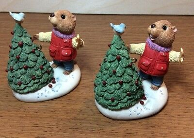 Hallmark Keepsake Eager For Christmas 1994 Lot of 2 Ornaments New In Box