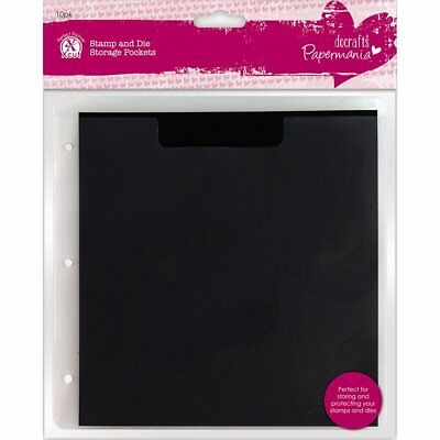 Papermania Plastic Stamp and Die Storage Pocket with Magnetic Shim, Pack of 10